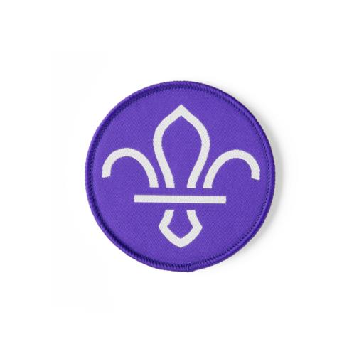 Fleur de Lis Woven Fun Badge