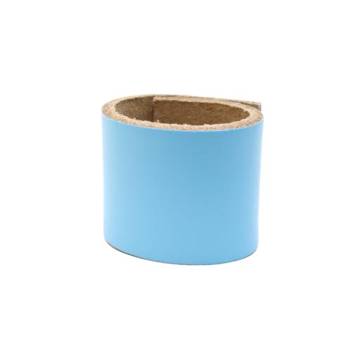 Simple Loop Leather Woggle – Light Blue