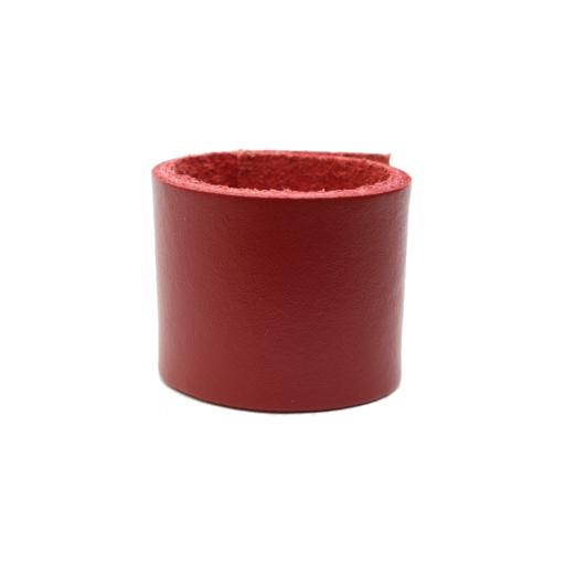 Simple Loop Leather Woggle – Maroon