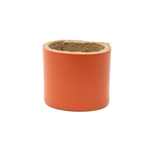Simple Loop Leather Woggle – Orange