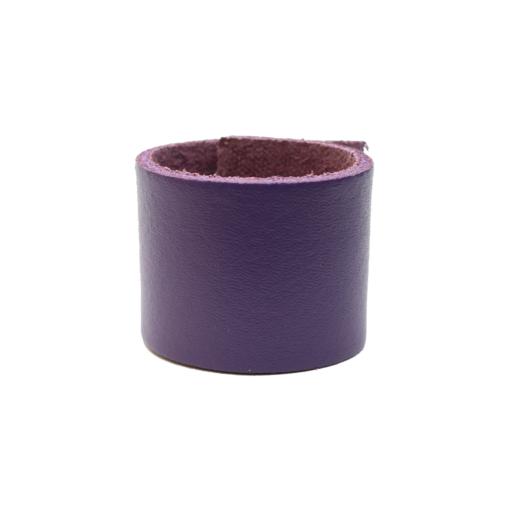 Simple Loop Leather Woggle – Purple