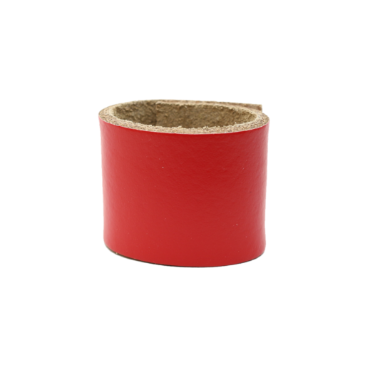 Simple Loop Leather Woggle – Red