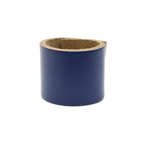 Simple Loop Leather Woggle – Royal Blue