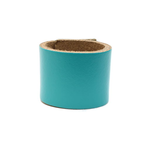 Simple Loop Leather Woggle – Turquoise