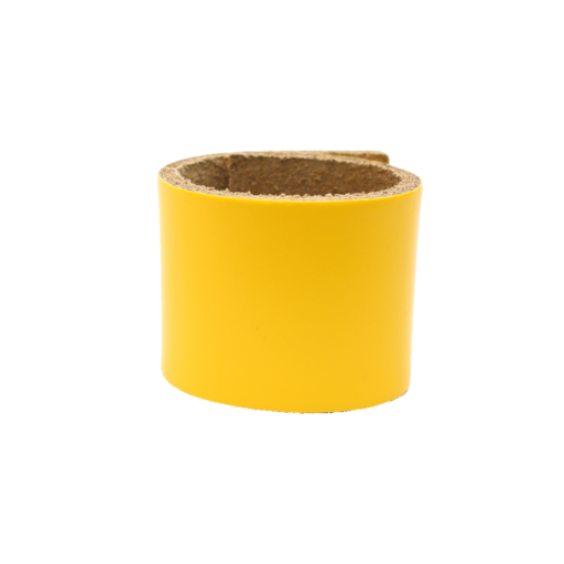 Simple Loop Leather Woggle – Yellow