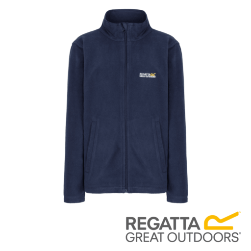Regatta Kid's King II Lightweight Full Zip Fleece – Navy