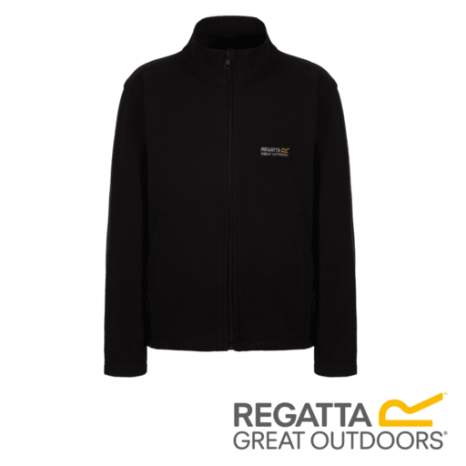 Regatta Kid's King II Lightweight Full Zip Fleece – Black