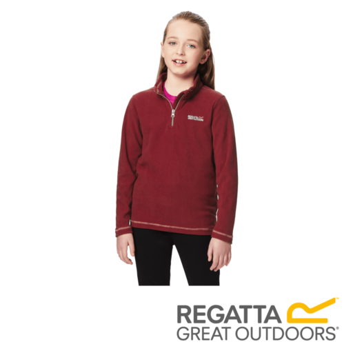 Regatta Kid's Hot Shot II Lightweight Half Zip Fleece – Rumba Red
