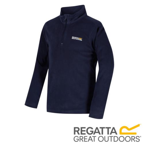 Regatta Kid's Hot Shot II Lightweight Half Zip Fleece – Navy