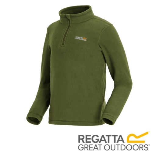 Regatta Kid's Hot Shot II Lightweight Half Zip Fleece – Cypres