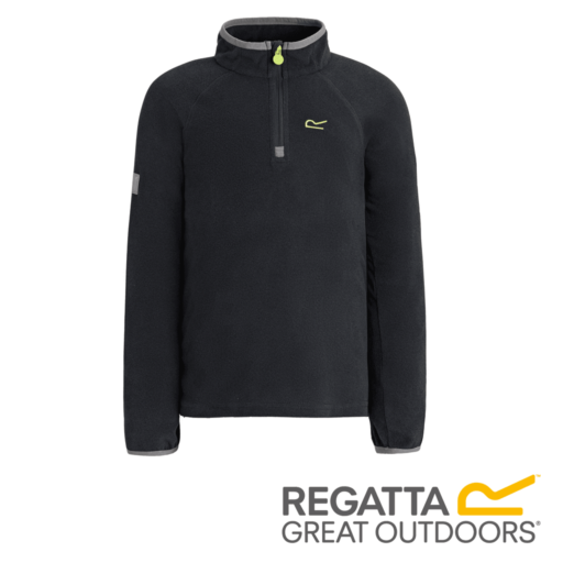 Regatta Kid's Loco Half Zip Fleece – Seal Grey