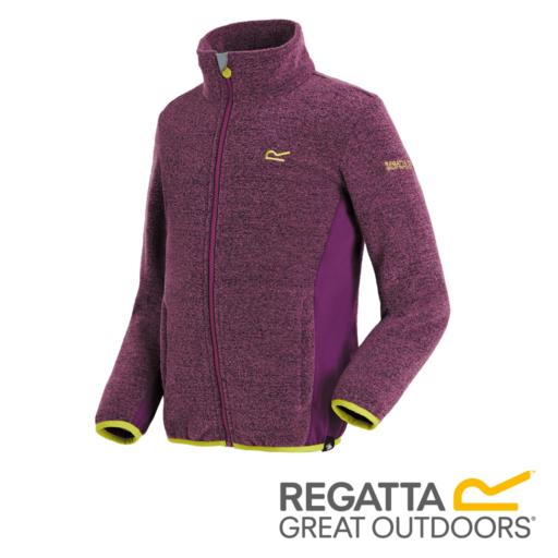 Regatta Kid's Ascendo Full Zip Fleece – Camelia / Winberry