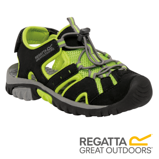 Regatta Kid's Deckside Sandal – Black / Lime