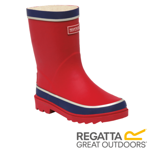 Regatta Kid's Foxfire Reflective Wellingtons – Senator / Prussian Blue