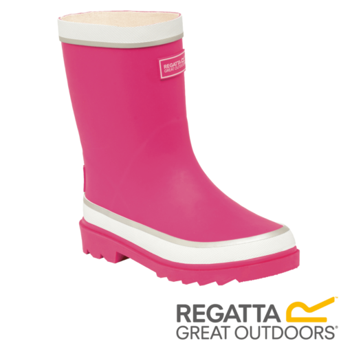 Regatta Kid's Foxfire Reflective Wellingtons – Jem / White