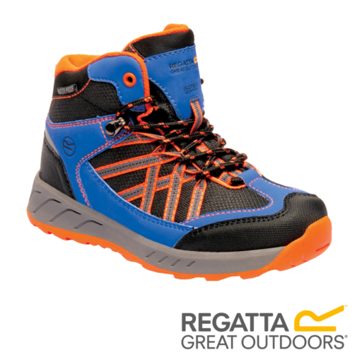 Regatta Kid's Samaris Mid Walking Boots – Oxford Blue / Orange Fizz