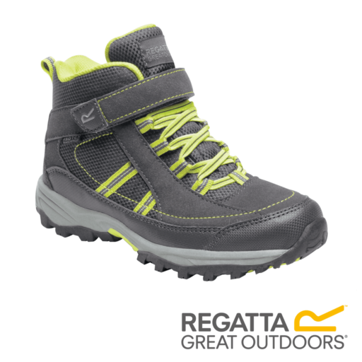 Regatta Kid's Trailspace II Mid Walking Boots – Briar / Lime Punch