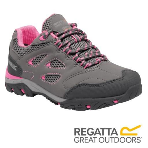 Regatta Kid's Holcombe Low Walking Shoes – Steel / Tulip