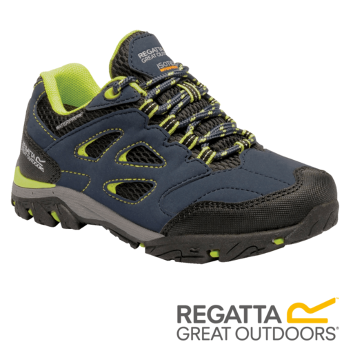 Regatta Kid's Holcombe Low Walking Shoes – Navy Blaze / Lime Punch