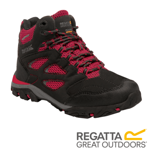 Regatta Kid's Holcombe IEP Walking Boots – Black / Pepper