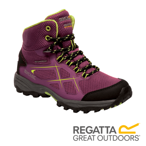 Regatta Kid's Kota Walking Boots – Winberry / Lime Punch