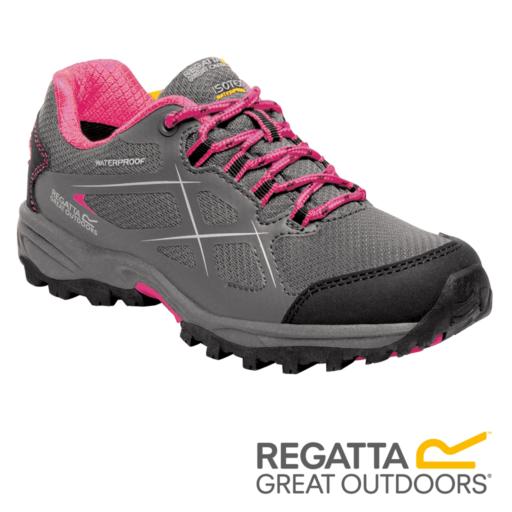 Regatta Kid's Kota Low Walking Boots – Granite / Tulip