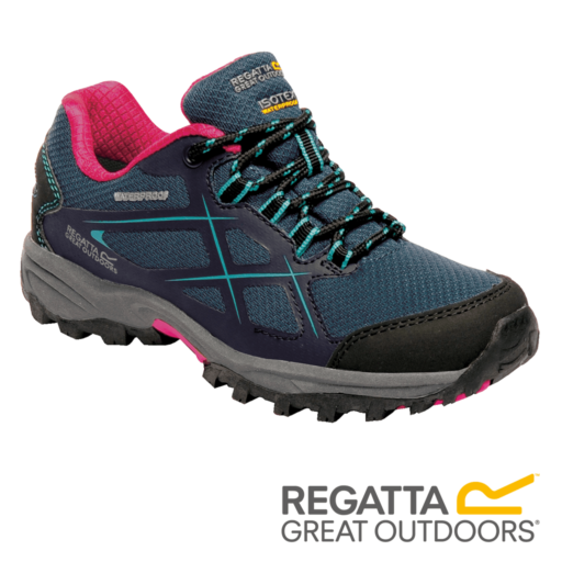 Regatta Kid's Kota Low Walking Boots – Moroccan Blue / Ceramic