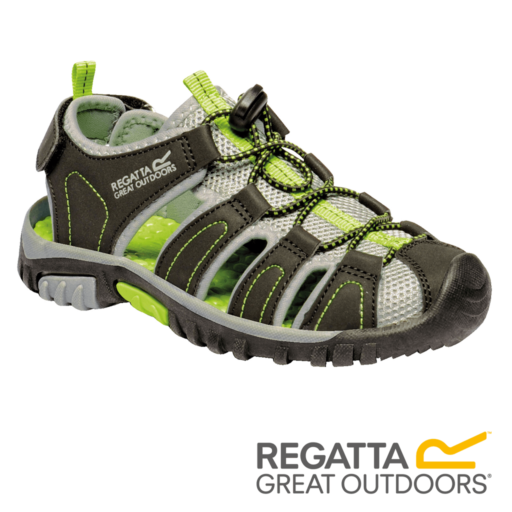 Regatta Kid's Westshore Sandals – Black / Lime Green