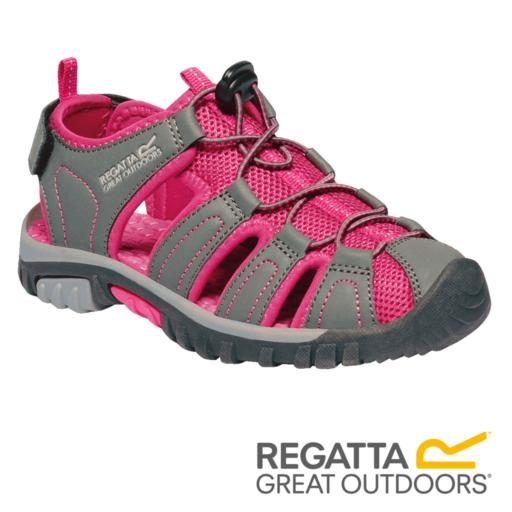 Regatta Kid's Westshore Sandals – Granite / Cabaret