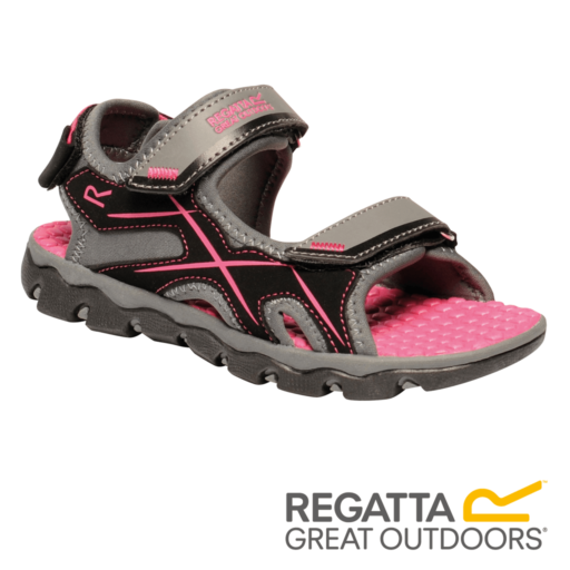 Regatta Kid's Kota Drift Sandals – Granite / Cabaret