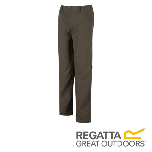 Regatta Kid's Sorcer Zip Off Hiking Trousers – Tree Top