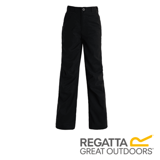 Regatta Kid's Dayhike II Breathable Waterproof Hiking Trousers – Black