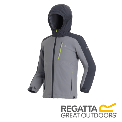 Regatta Kid's Aptitude III Waterproof Insulated Jacket – Rock Grey / Seal Grey