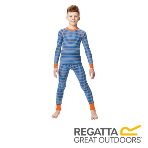 Regatta Kid's Elatus Striped Base Layer Top