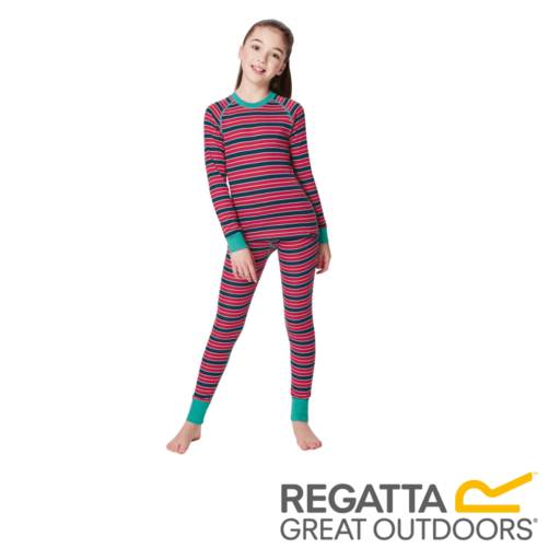 Regatta Kid's Nessus Striped Base Layer Pants – Duchess Stripes