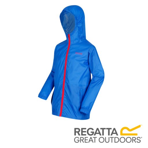 Regatta Kid's Pack It Jacket III Waterproof Packaway – Oxford Blue