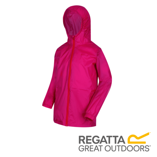 Regatta Kid's Pack It Jacket III Waterproof Packaway – Cabaret