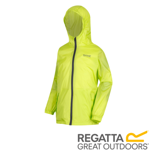 Regatta Kid's Pack It Jacket III Waterproof Packaway – Lime Punch
