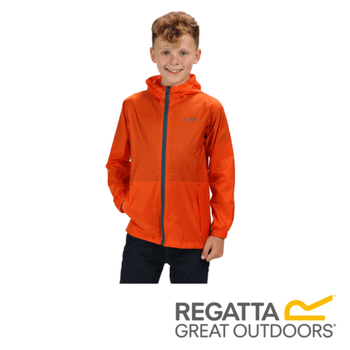Regatta Kid's Pack It Jacket III Waterproof Packaway – Blaze Orange