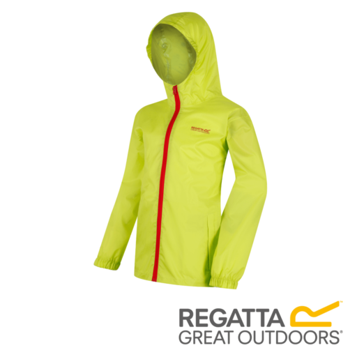 Regatta Kid's Pack It Jacket III Waterproof Packaway – Lime Zest