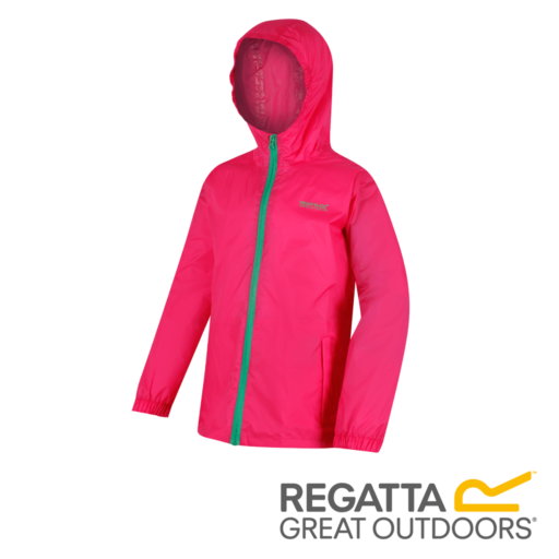 Regatta Kid's Pack It Jacket III Waterproof Packaway – Hot Pink