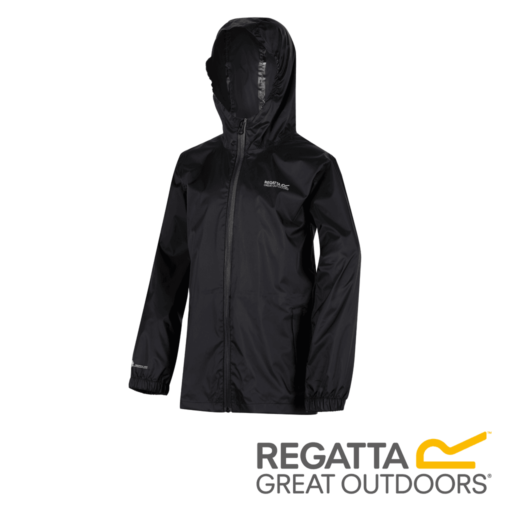 Regatta Kid's Pack It Jacket III Waterproof Packaway – Black