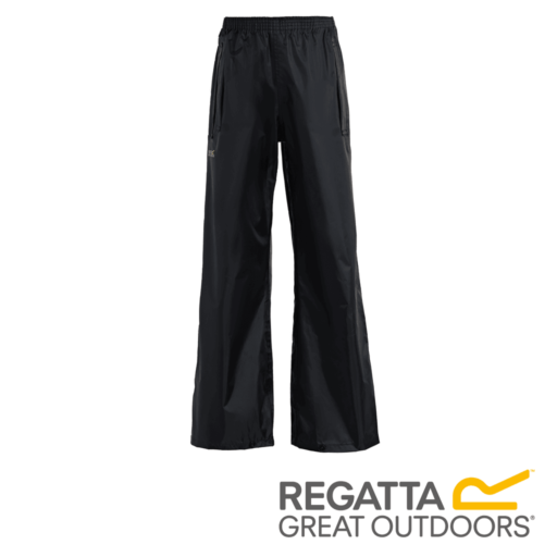 Regatta Kid's Stormbreak Waterproof Overtrousers – Black