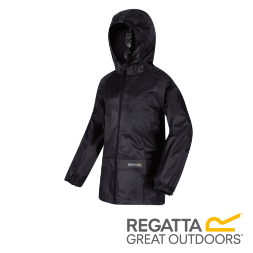 Regatta Kid's Stormbreak Waterproof Jacket – Black