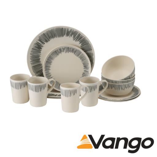 Vango Bamboo 4 Person Bamboo Set – Grey Stripe