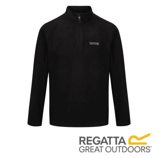Regatta Men's Thompson Lightweight Half-Zip Fleece – Black