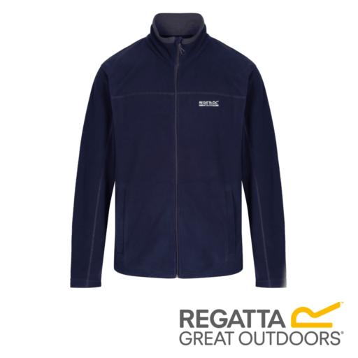 Regatta Men's Fairview Mid Weight Full-Zip Fleece – Navy / Seal Grey