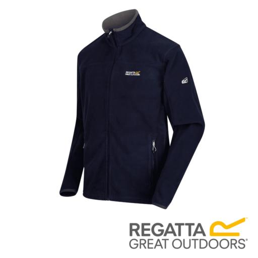 Regatta Men's Stanton II Mid Weight Full-Zip Fleece – Navy / Seal Grey