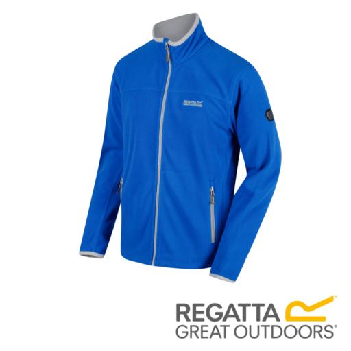 Regatta Men's Stanton II Mid Weight Full-Zip Fleece – Oxford Blue / Light Steel
