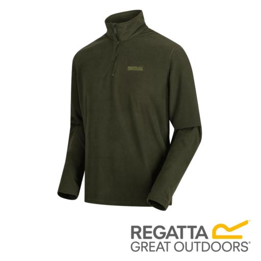 Regatta Men's Elgor Lightweight Half-Zip Fleece – Dark Khaki